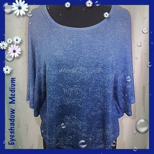 Eyeshadow Blue Ombre Dolman Sleeves Size Medium